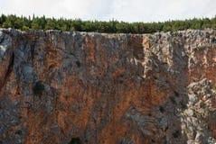 Imotski, berühmter roter See in Kroatien Stockbild