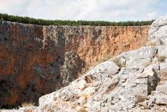 Imotski, berühmter roter See in Kroatien Lizenzfreies Stockfoto
