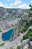 Imotski blue lake, Croatia Stock Images
