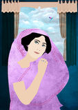 Impératrice dans le sari Photos libres de droits