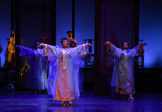 Impératrices danse-désillusion-modernes de drame de Jinghong dans le palais Photo stock