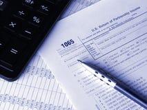 impôt de 1065 formes photos stock