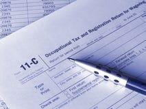 impôt de forme de 11 C photographie stock libre de droits