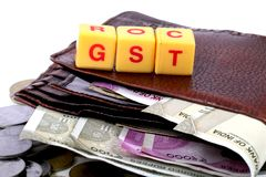 Impôt de GST Photographie stock libre de droits