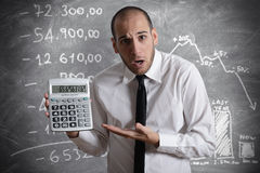 Impôt et crise photographie stock