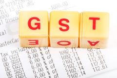 Impôts de Gst Image stock