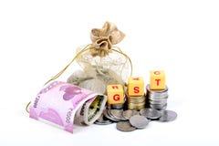 Impôts de Gst Photos stock