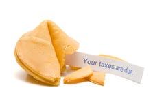 Impôts dus Photos stock