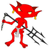 Imp. Cartoon stylized character drawing, over white Stock Photography