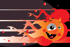 Imp. Vector image of fire imp Royalty Free Stock Images