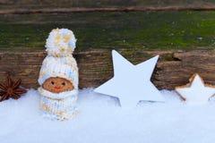 Imp entre las estrellas en la nieve Fotografía de archivo
