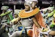 Império de Casa Verde - Carnaval - São Paulo, Brasilien 2015 Arkivbilder