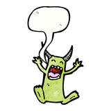 Imp with speech bubble Royalty Free Stock Image