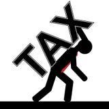 Impôt au-dessus de l'homme Image libre de droits