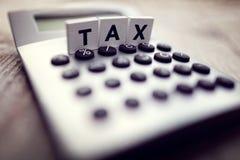 Impôt calculateur image libre de droits