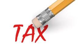 Impôt d'effacement (chemin de coupure inclus) Image stock