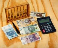 Impôt polonais de calcul Photo libre de droits