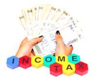 impôt sur le revenu Image stock
