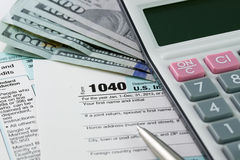 Impôt sur le revenu Image libre de droits