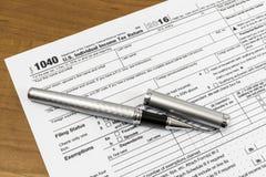Impôts de classement Images stock