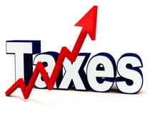 Impôts en hausse Image stock