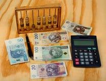 Impôts polonais de calcul Photographie stock libre de droits