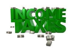 Impôts sur le revenu Photo stock