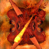 Impact. Illustration with violin Royalty Free Stock Photo