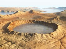 Impact crater Royalty Free Stock Image