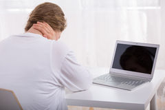 Impact of cyber violence Stock Image