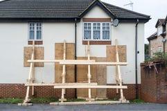 Impact Damaged House Stock Images
