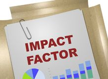 Impact Factor concept. 3D illustration of IMPACT FACTOR title on business document Stock Photo