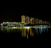 Impact lakeside. Nightlight impact lakeside Royalty Free Stock Images