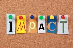Impact Single Word Stock Photos