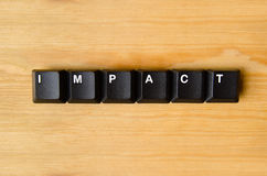 Impact word Stock Photography