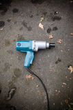 Impact Wrench. A backyard mechanics impact wrench laying on the blacktop Stock Images