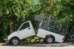 Impaction d'accident de voiture Photographie stock libre de droits