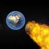 Impacto asteroide ilustración del vector