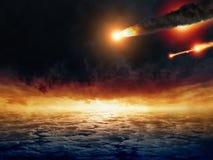 Impacto asteroide Foto de archivo libre de regalías
