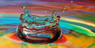 Impacto colorido de la gota Foto de archivo libre de regalías