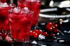 Impacto da baga de Rosso, cocktail alcoólico com corinto vermelho, vermute fotografia de stock royalty free
