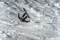Impacto da snowboarding Foto de Stock