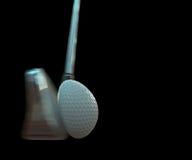 Impacto de la pelota de golf imagen de archivo