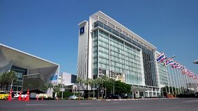 impacto de Novotel Bangkok del hotel 380-room almacen de video