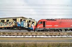 Impacto de trem Foto de Stock Royalty Free