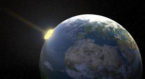 Impacto del meteorito Fotos de archivo libres de regalías