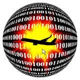 Impacto do ar pelo hacker Fotografia de Stock