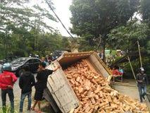 Impacto do caminhão Fotografia de Stock