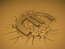 Impacto do Euro ilustração do vetor