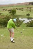 Impacto do golfe Imagens de Stock Royalty Free
